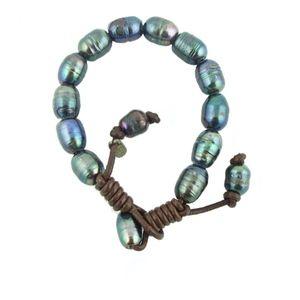 Black Freshwater Pearls Bracelet NWT